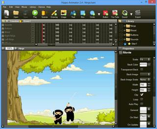طراحی انیمیشن وب سایت Hippo Animator