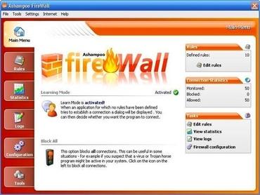 دیواره آتش رایگان اشامپو Ashampoo FireWall FREE