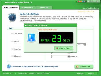 خاموش کردن خودکار سیستم WinMend Auto Shutdown