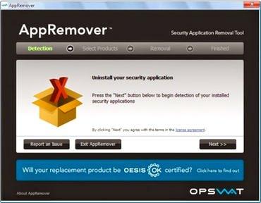برنامه antivirus remover