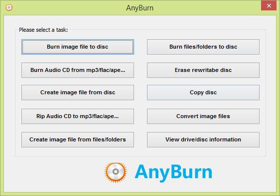 نرم افزار رایت کم حجم AnyBurn