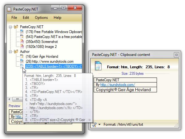 PasteCopy.NET بهبود حافظه کلیپ بورد