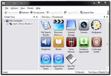 iFunBox مدیریت آیفون, آیپد و آیپاد آیتونز