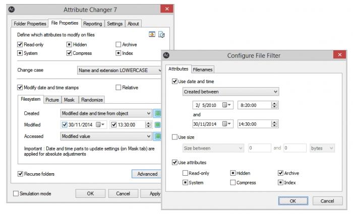 برنامه تغییر گروهی مشخصات فایلها