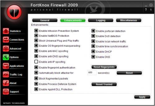 دانلود فایروال FortKnox Personal Firewall