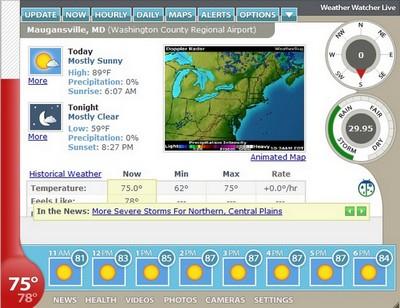 وضعیت آب و هوا Weather Watcher Live