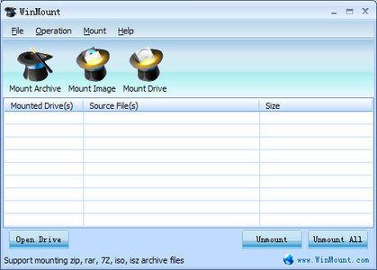 باز کردن فایل های فشرده WinMount