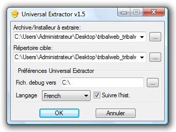 اکسترکت کردن فایلهای فشرده Universal Extractor