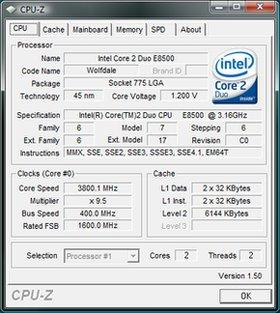 بدست آوردن مشخصات سیستم CPU-Z