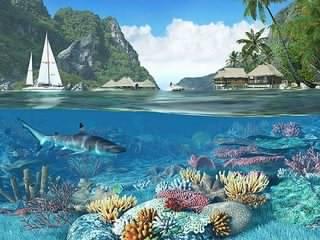 محافظ صفحه نمایش Caribbean Islands 3D