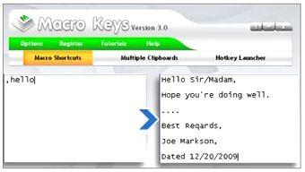 کلید میانبر Macro Keys