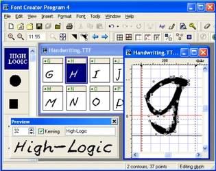 طراحی فونت Font Creator Professional