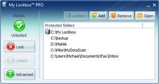 قفل فولدر فایل My Lockbox