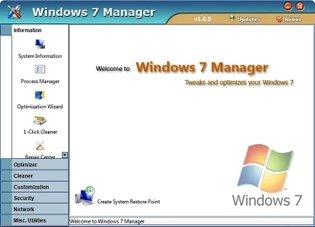 افزایش سرعت Windows 7 Manager