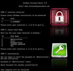 حذف پسورد ویندوز Windows Password Remover