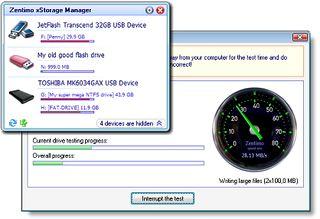 مدیریت حافظه های جانبی Zentimo xStorage Manager
