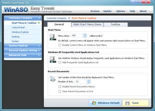 مدیریت پردازش ها WinASO EasyTweak