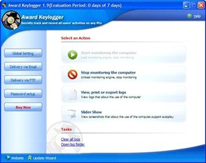 کنترل کامپیوتر دیگران Award Keylogger