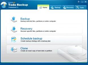 بکاپ گیری EASEUS Todo Backup Professional