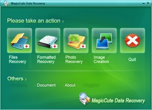 بازیابی فایلها MagicCute Data Recovery