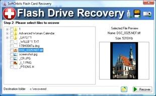 ریکاوری فایلهای پاک شده SoftOrbits Flash Drive Recovery