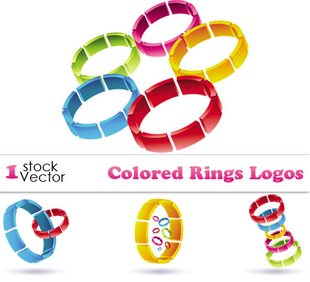 وکتور حلقه Colored Rings Logos Vector