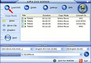 استخراج فایلها از درون دی وی دی AoAMedia AoA DVD Ripper