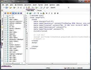 ساخت صفحات وب سایت CoffeeCup HTML Editor