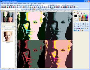 ویرایش افکت گذاری تصاویر Fotoview Pop Art Studio