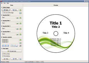 طراحی ساخت لیبل سی دی RonyaSoft CD DVD Label Maker