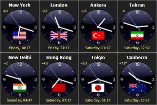 مشاهده ساعت شهرهای جهان Sharp World Clock