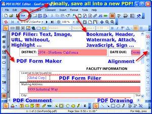 PDFill PDF Editor ساخت ویرایش پی دی اف