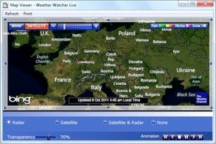 دمای هوای شهرها Weather Watcher Live
