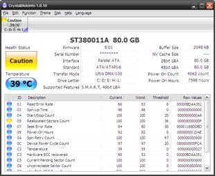 بررسی مانیتورینگ هارد دیسک CrystalDiskInfo