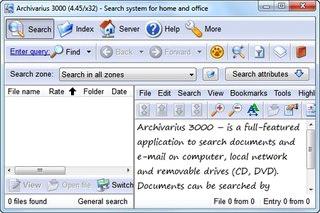 جستجو اسناد ایمیلها فایلهای فشرده Likasoft Archivarius 3000