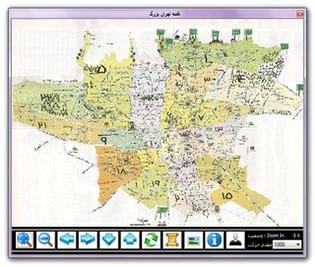 نقشه تهران Tehran Map