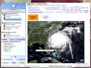 پیش بینی حوادث طبیعی Earth Alerts