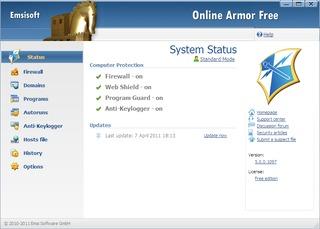 فایروال رایگان Online Armor Free Firewall