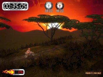 بازی کم حجم موتور سواری game Super Motocross Africa