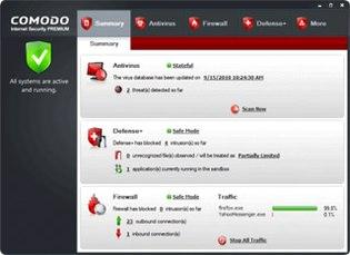 بسته امنیتی رایگان Comodo Internet Security
