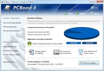 افزایش سرعت cpu کامپیوتر PcBoost