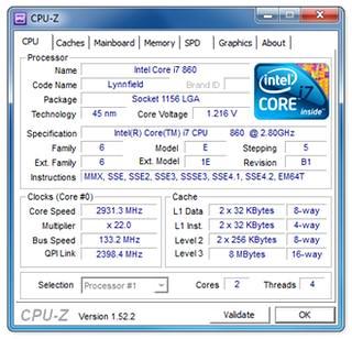 بدست آوردن مشخصات سخت افزاری سیستم CPUID CPU-Z