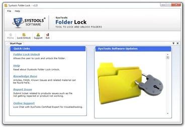 قفل کردن پوشه ها SysTools Folder Key