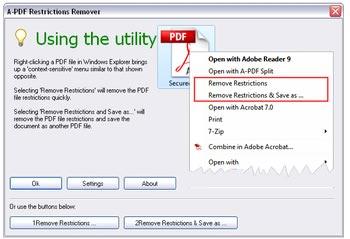 دانلود A-PDF Restrictions Remover