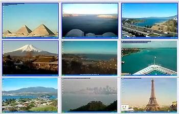 تماشای دوربین های زنده جهان در پس زمینه دسکتاپ CamPaper