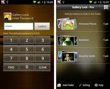 مخفی کردن فایلها در گوشی Gallery Lock Pro آندروید