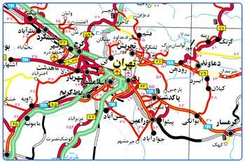 نقشه راه های ایران Iran Roads Map