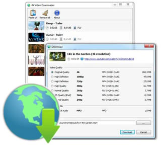دانلود فیلم از شبکه های اجتماعی 4K Video Downloader