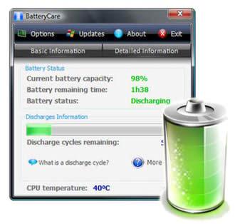 استفاده بهینه و صرفه جویی شارژ باطری لپ تاپ BatteryCare