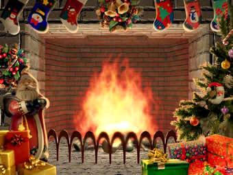 اسکرین سیور شومینه Christmas Living 3D Fireplace Screensaver